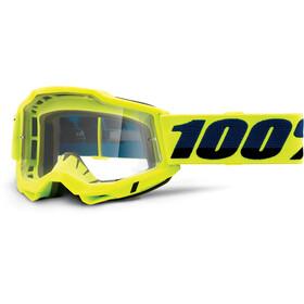 100% Accuri OTG Goggles Gen2, fluo yellow/clear
